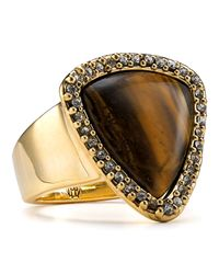 House of Harlow 1960 | Metallic Tigers Eye Band Ring | Lyst