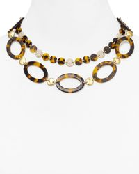 Lauren by Ralph Lauren - Brown Highland Tortoise Oval Link Necklace 18 - Lyst