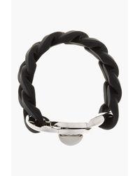 Marc By Marc Jacobs - Black Rubber Katie Turnlock Bracelet - Lyst