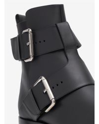 Pierre Hardy - Black Double Buckle Leather Boots - Lyst