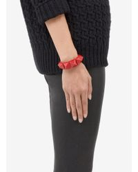 Valentino | Red 'rockstud' Macro Patent Leather Bracelet | Lyst