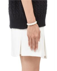 Valentino | White Rockstud Patent Leather Skinny Bracelet | Lyst