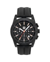 Andrew Marc | Mens Chronograph Heritage Racer Black Leather Strap 45mm for Men | Lyst