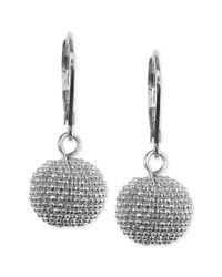 Anne Klein - Metallic Silvertone Leverback Drop Earrings - Lyst