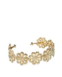 ASOS | Metallic Limited Edition Flower Filigree Cuff Bracelet | Lyst