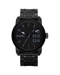 DIESEL - Black Ion Plated Stainless Steel Bracelet 49mm for Men - Lyst