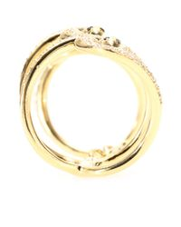 Ileana Makri | Yellow 18kt Gold Snake Parade Ring With White And Black Diamonds | Lyst
