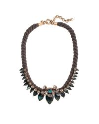 J.Crew | Brown Spiky Rope Necklace | Lyst