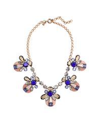 J.Crew - Multicolor Mixed Crystal and Resin Necklace - Lyst