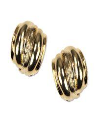Anne Klein | Metallic Earrings, Gold-tone Button Clip On Earrings | Lyst