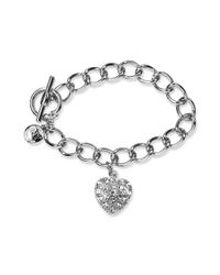 Jones New York | Metallic Silver-tone Pave Heart Bracelet Box | Lyst