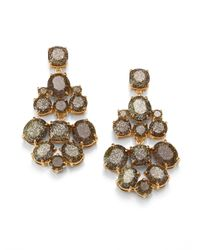 kate spade new york | Metallic Glitter Chandelier Earrings | Lyst