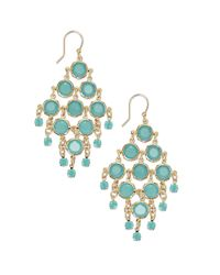 kate spade new york - Metallic Goldtone Mint Stone Chandelier Earrings - Lyst