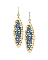 Kenneth Cole | Blue Goldtone Cherry Bead Oval Drop Earrings | Lyst