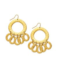 Lauren by Ralph Lauren - Metallic Large Gypsy Hoop Earrings - Lyst