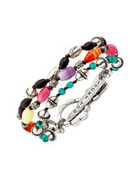 Lucky Brand - Multicolor Glass and Wooden Bead - Lyst