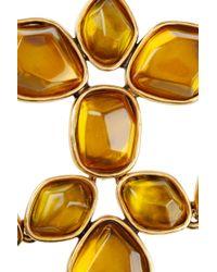 Oscar de la Renta - Yellow Goldplated Crystal Necklace - Lyst