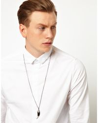 ASOS | Metallic Necklace With Multi Charm Pendant In Silver for Men | Lyst