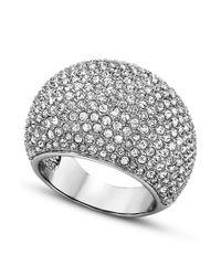Swarovski | Gray Rhodiumplated Pave Crystal Stone Ring | Lyst