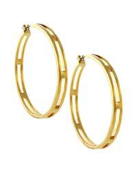 Vince Camuto   Metallic Gold Tone Open Hoop Earrings   Lyst