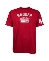 Lyst adidas university of wisconsin badgers school for University of wisconsin t shirts