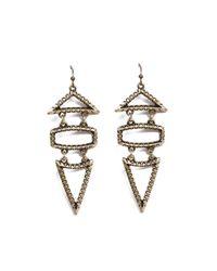 AKIRA - Metallic Final Sale Geo Earrings in Antique Gold - Lyst