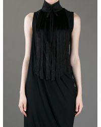 Ann Demeulemeester | Black Oversize Fringe Necklace | Lyst