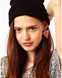 Fred Perry - Metallic Asos Slick Triangle Earrings - Lyst