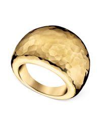 Calvin Klein   Metallic Gold Pvd Stainless Steel Hammered Ring   Lyst