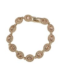 Carolee | Metallic Gold-plated Oval Flex Bracelet | Lyst