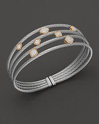 Charriol - Metallic Classique Multi Diamond Station Cuff - Lyst
