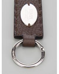Fendi - Brown Selleria Key Ring for Men - Lyst