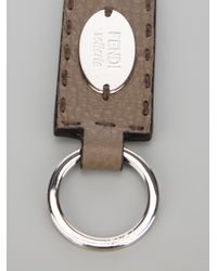 Fendi | Brown Selleria Keyring for Men | Lyst