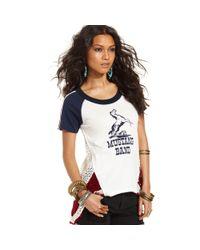 Free People | Metallic The New Romantics Spangled Bib Shirt | Lyst