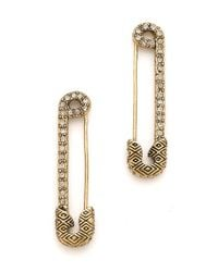 House of Harlow 1960 | Metallic Safety Pin Earrings with Sparkle | Lyst