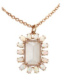Irene Neuwirth - White Rainbow Moonstone Pendant Necklace - Lyst