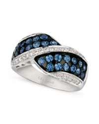Le Vian - Blue Ceylon Sapphire (1-1/3 Ct. T.w.) And Diamond (1/4 Ct. T.w.) Ring In 14k White Gold - Lyst