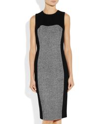 Michael Kors | Black Tweedpanel Dress | Lyst
