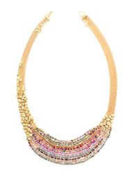 Natasha Collis | Metallic Hand-Melted 18Kt Yellow Gold Collar Necklace | Lyst