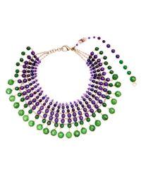 Rosantica | Purple Amethyst Agate Orchidea Necklace | Lyst