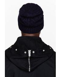 Saint Laurent - Blue Navy Cableknit Beanie for Men - Lyst