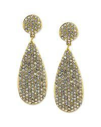 Vince Camuto - Metallic Goldtone Crystal Pave Teardrop Earrings - Lyst