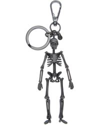 Alexander McQueen | Metallic Skeleton Keyring for Men | Lyst