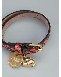 Alexander McQueen - Red Skull Charm Bracelet for Men - Lyst