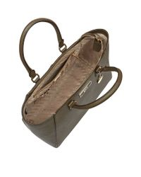 DKNY - Brown Large Saffiano Leather Satchel - Lyst