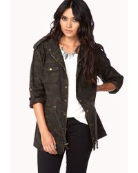 Forever 21 - Green Must have Camo Utility Jacket - Lyst