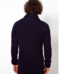 Anerkjendt - Black G Star Knit Cardigan Nimrod Shawl Collar Oxford Cable for Men - Lyst
