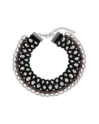 TOPSHOP - Multicolor Premium Velvet Facet Collar - Lyst