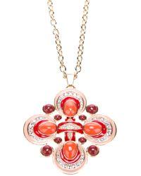 Tory Burch | Metallic Geometric Pendant Necklace | Lyst