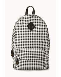 Forever 21 | Black Sweet Gingham Backpack | Lyst